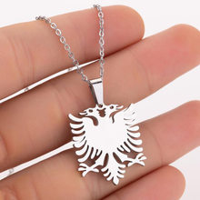 European and American creative new fashion simple Albanian eagle stainless steel necklace ladies 100 lockbone chain()