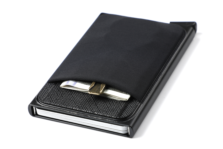 Titular de cartão de identificação de dinheiro de alumínio de negócios personalizado fino metal carteira de moeda caso carteira de cartão de crédito rfid bloqueando carteira