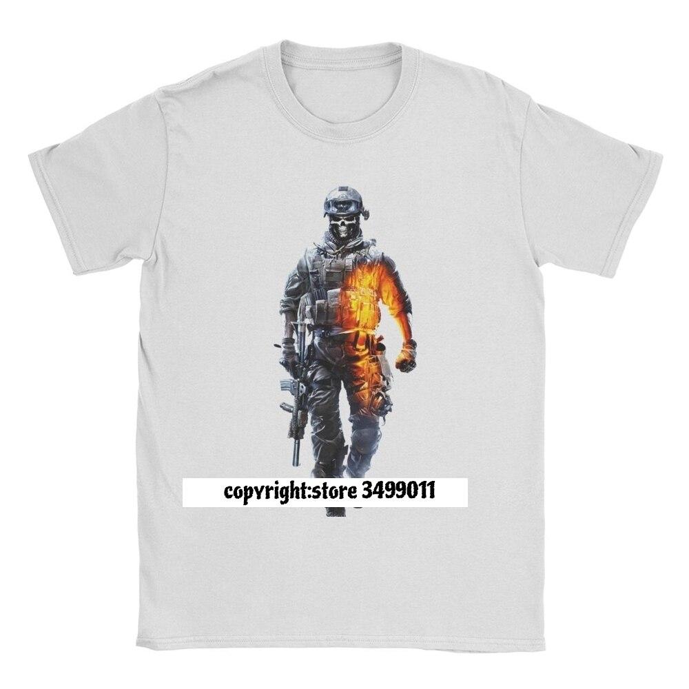 Battlefield hauts T-Shirt hommes Premium coton Vintage T-Shirt O cou guerre Bf1 tireur V jeu vidéo t-shirts Fitness Streetwear été