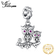 JewelryPalace Owl Family 925 Sterling Silver Beads Charms Original For Bracelet original Jewelry Making