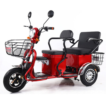 New Two-person Electric Motorcycle Older Electric Scooter Wide Tire Two Seat Three Wheel The Old Elderly Disabled Scooter 500W taken on airplane durable folding electric wheelchair for disabled and elderly