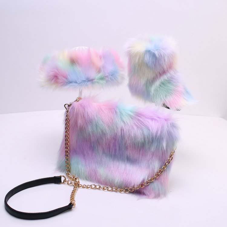 SWONCO Children Snow Boots Set With Bag+headband Winter New Fashion Girl Furry Boots Ankle 2019 New Faux Fur Furry Boot