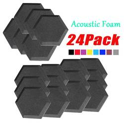 Panel acústico hexagonal de 2 pulgadas, tablero de aislamiento acústico, espuma insonorizada, esponja de absorción de sonido para estudio, baldosas de tratamiento de sonido ignífugo
