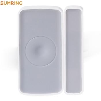 цена на Zigbee 3.0 Magnetic Door Window Contacts Sensor For Home Security, Mobile Phone Receive Alarm Notification