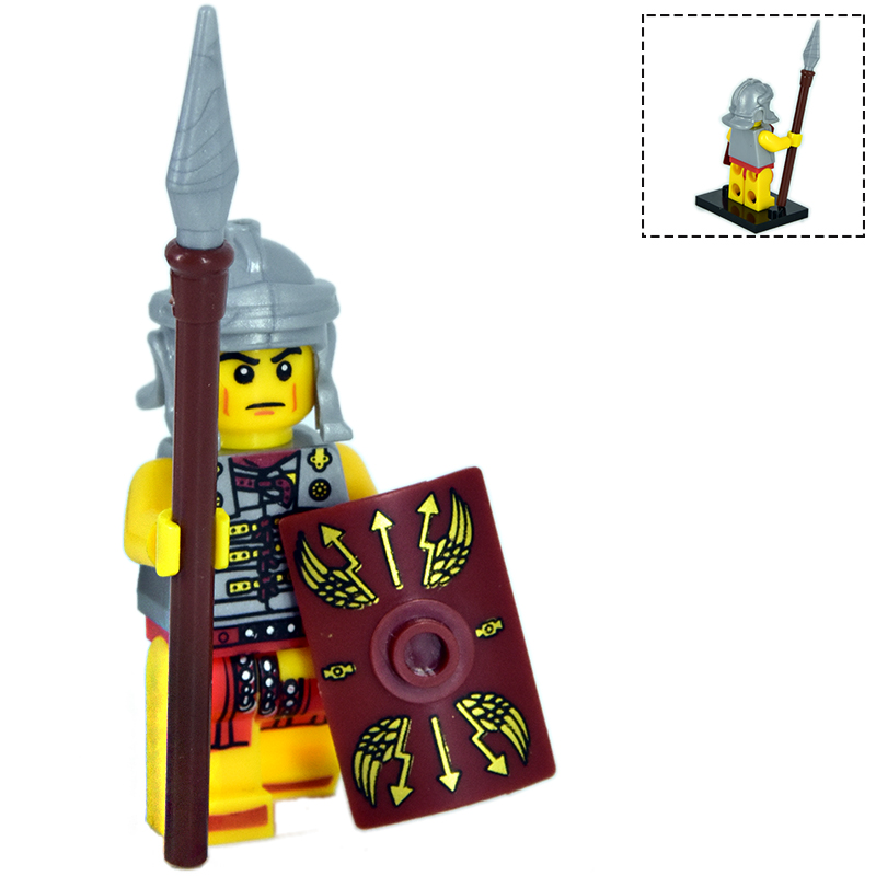 1pcs Mini Knight Figure Medieval Rome Kindoms <font><b>Dragon</b></font> Knights For <font><b>Castle</b></font> Accessories Building Blocks <font><b>Legoinglys</b></font> Toys For Children image