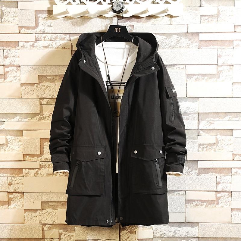 2019 New Print Trench Coat Men Jacket Overcoat Casual Men's Windbreakers X-Long Men Fashion Autumn Jackets