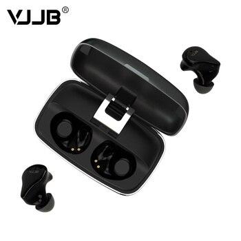 AK VJJB V8 TWS True Wireless Bluetooth 5.0 In Ear Earphone 6MM Dynamic Driver Portable HIFI Stereo Sport Headset IPX7 Earbuds