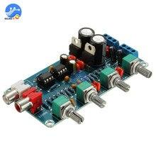 NE5532 ستيريو Preamp لهجة مجلس التحكم في مستوى الصوت 4 قناة HIFI مضخم رقمي التيار المتناوب 12 فولت مجلس الصوت للهاتف Preamp