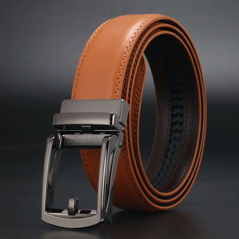 Fashion Designer Mens Belts Automatic Business Leather Belt High Quality Cowhide Genuine Leather Strap