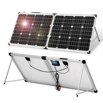 Anaka-panel Solar impermeable de 100W, 12V, batería Solar de China, Kits de...