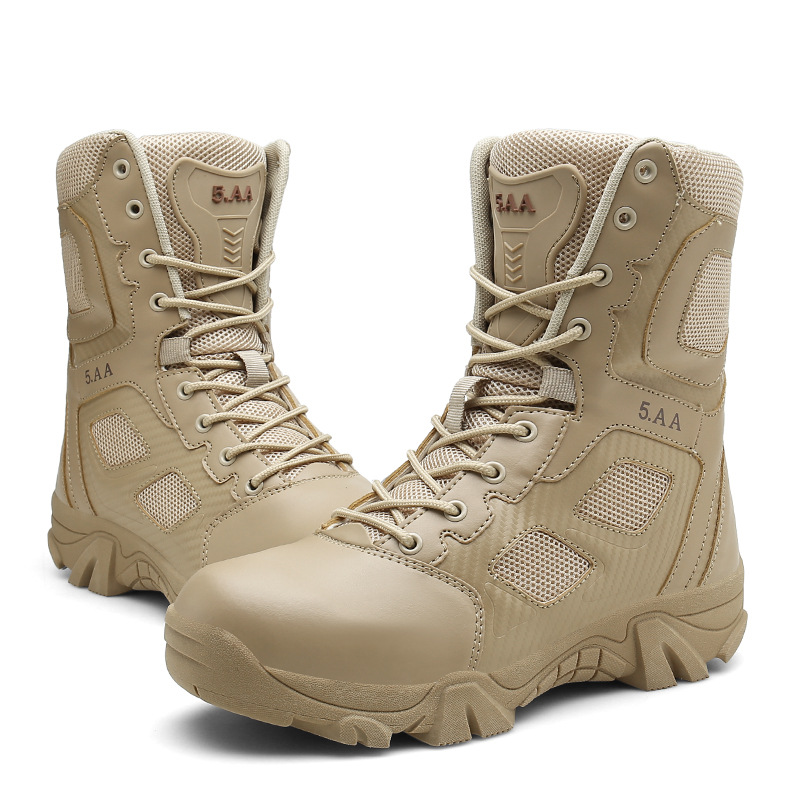 Autumn And Winter New Style MEN'S Military Boots Hot Sales Wearable Tactical Boots Sand-proof Anti-slip Desert Boots