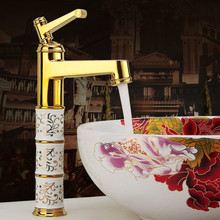 Deck mounted brass and ceramic faucet Bathroom Basin faucet Mixer Tap Rose Gold Sink Faucet Bath Basin Sink Faucet