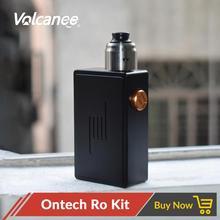 Volcanee Ontech Ro kiti mekanik Mech Mod 22mm çap 316 paslanmaz çelik Vape tankı fit 18650 pil E sigara kitleri