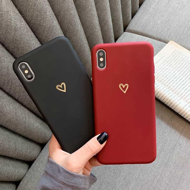 Para iPhone 6, 6s, 7, 8 Plus, X, XR, XS, MAX, iPhone 11 Pro Max, funda protectora de silicona con patrón de corazón suave ultrafino