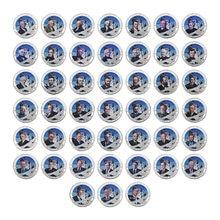 Wr 45 pçs eua presidentes prata chapeado moedas colecionáveis com titular da moeda donald trump moedas originais presentes lembrança dropshipping