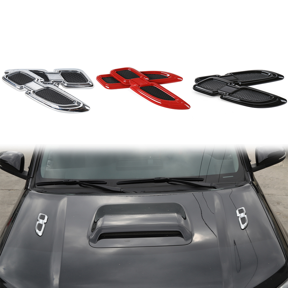 Car-styling Front Side Air Vent Fender Decoration Outlet Cover for <font><b>Toyota</b></font> <font><b>4Runner</b></font> <font><b>2017</b></font>+ Red/Chrome/Black Exterior Accessories image
