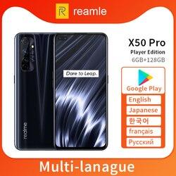 Realme X50 Pro X50 5G 6 ГБ 128 ГБ 6,44 90 Гц SuperAmoled экран мобильный телефон Snapdragon 865 телефон 65 Вт Superdart зарядка