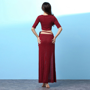 Image 2 - Hot البيع شحن مجاني 2019 جديد السيدات الرقص الشرقي دعوى الملابس أداء الرقص الملابس ممارسة الملابس تنورة مثير الملابس