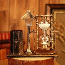 Kreatywny pióro w stylu Retro uchwyt klepsydra piaszczysta klepsydra lampka nocna rzemiosło ozdoby na blat ozdoby piórnik piórnik