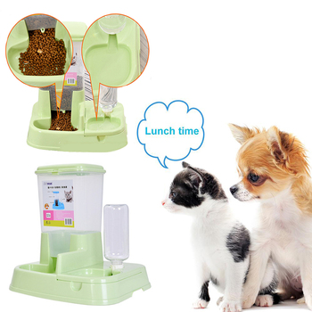 1.5L Automatic Pet Feeder Dogs Cats Drinking Fountain Pet Bowl Dual Use Feeding Bowl New Pet Water Dispenser Cats Dogs Supplies