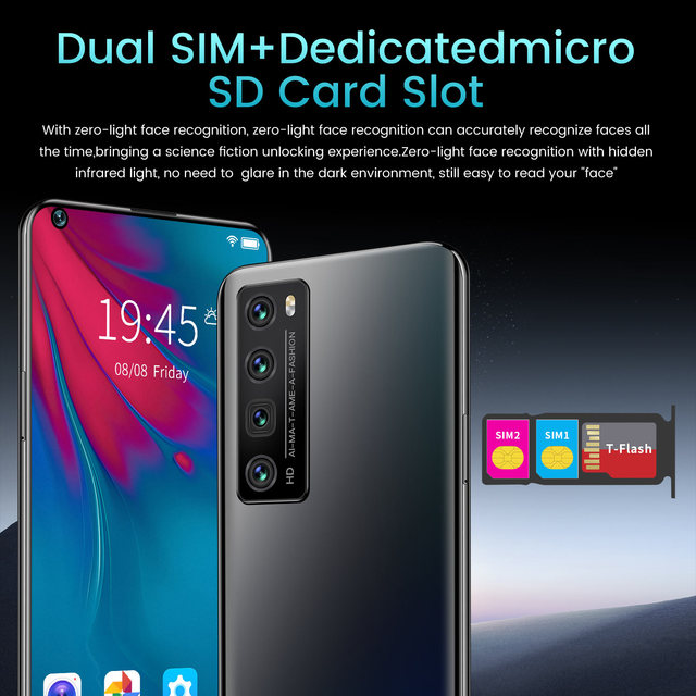 Newest NOVA7 PRO Smartphone 7.2 Inch HD Large Screen Smart Phone 5000mAh 512G ROM Mpbile Phone Global Unlocked Dual Sim Phone 6