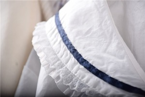 Image 3 - Японские белые рубашки Лолиты, женские винтажные кружевные топы принцессы с рюшами, Подростковая блузка с матросским воротником и пуговицами, милая школьная форма