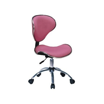 SWIVEL CHAIR Q-CONNECT MEDIUM ADJUSTABLE BACKREST HEIGHT 820 + 120MM WIDTH 430MM AND PROF 440 MM PINK