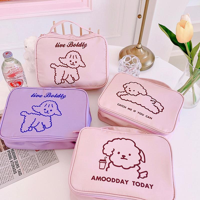 New Cartoon lamb Cosmetic Bag Makeup Case Wash Organizer Toiletry Make Up Travel Girl Beauty Storage Bags Women Bath Pouch