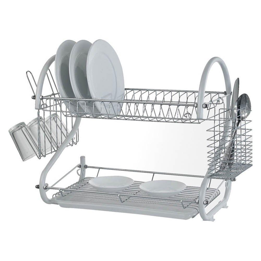 Kitchen Portable Drying Dish Drainer Drying Rack Holder Plates Cup Tableware Bowl Shelf Basket Holder Dinnerware Organizer