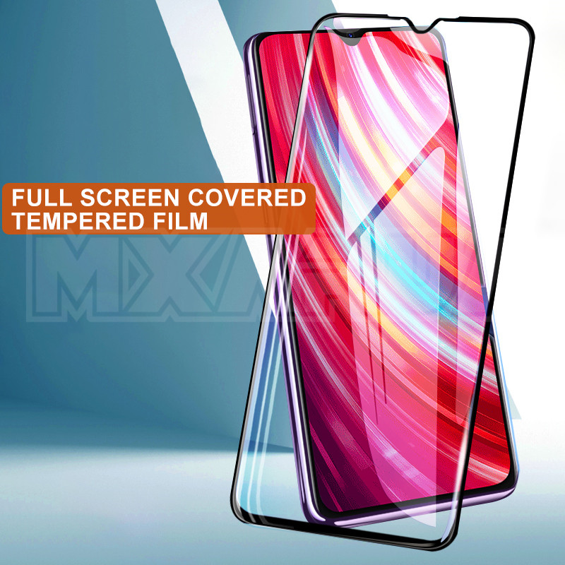 Image 2 - 9D Full Cover Tempered Glass on the For Xiaomi Redmi Note 8 7 6 Pro Redmi 8 8A 7 7A 6 Pro 6A Go K20 Screen Protector Glass FilmPhone Screen Protectors   -