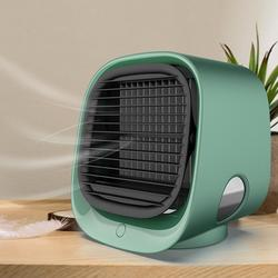Air Cooler Fan Mini Desktop Air Conditioner with Night Light Mini USB Water Cooling Fan Humidifier Purifier Multifunction Summer