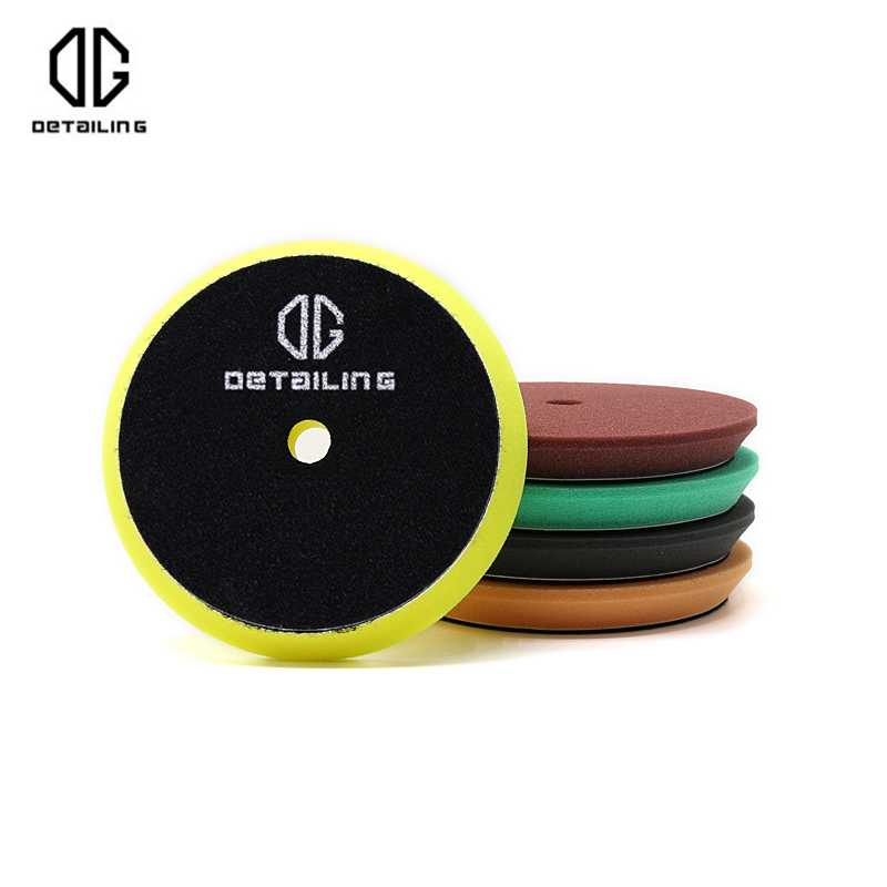DETAILING 5inch Yellow Sponge Car Polishers Foam Polishing Buffer Pad Medium Cutting Pad
