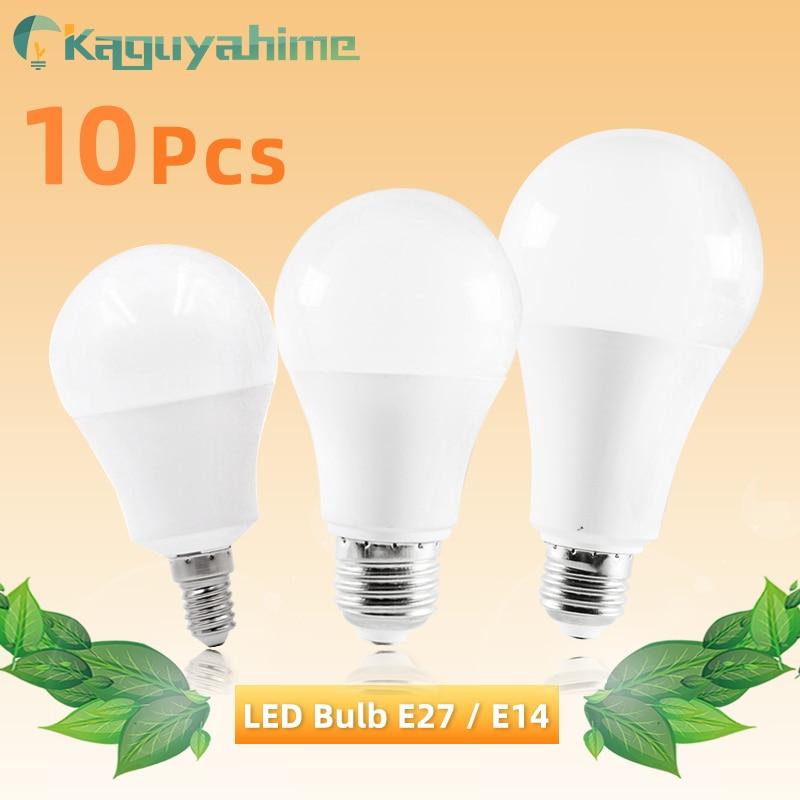 Kaguyahime 10Pcs LED E27 LED Bulb E14 LED Light 20W 15W 12W 9W 6W 3W AC 220V 240V LED Spotlight Bombilla Lamp Lighting Lampada