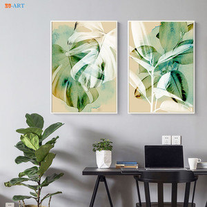 Abstract Botanical Prints Poster Tropical Leaf Canvas Painting Wall Art Wall Paintings for Living Room Decoration Picture