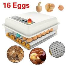 110v/220v 16 ovo incubadora automática do agregado familiar digital mini chocadeira máquina com turner hatcher frango incubação equipamento