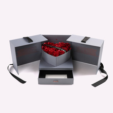 Open-door Gift Box with Heart Shaped Soap Flowers