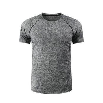 2021 męskie koszulki do biegania szybka kompresja na sucho t-shirty sportowe Fitness Gym koszulki do biegania koszulki piłkarskie męskie koszulki sportowe tanie i dobre opinie CN (pochodzenie) Unisex summer Z bawełny organicznej