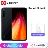 Xiaomi-smartphone Redmi Note 8, versión Global, 4GB de RAM y 64GB de ROM, Snapdragon 665 Octa Core, pantalla de 6,3 pulgadas, 48MP Quad de cámara trasera, batería de 4000mAh