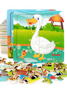 Wooden Puzzles Jigsaw Animals Educational Baby Kids Children Gift for Vehicle And Hot-Sale
