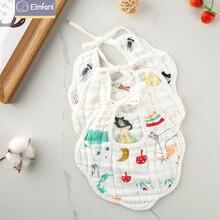 Bandana Bibs Muslin Elinfant Scarf Pack Feeding Baby Drooling Fashionable 100%Cotton