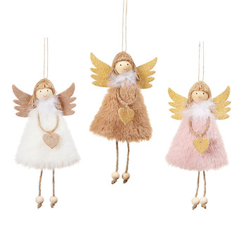 Hanging Angel/Snowman/Santa Claus Christmas Dolls Ornaments Christmas Tree Decorations for Home Elf Pendant Xmas Party Kids Gift happy new year 2021 foil balloon set 2020 merry christmas eve party decorations for home ornaments santa claus tree xmas snowman