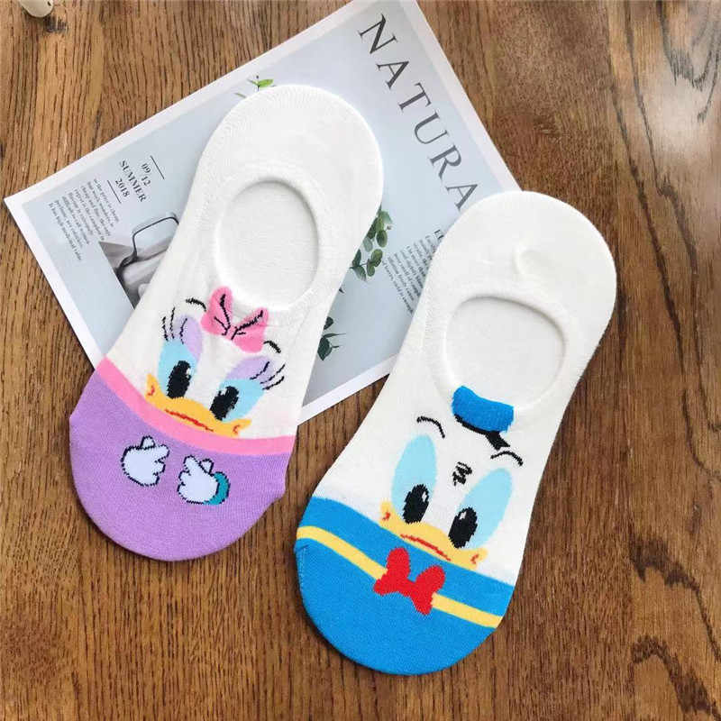 ディズニー女性靴下漫画の動物マウス靴下かわいいかわいいおかしいアンクルソックス見えないシリコーンスリップソックスボート靴下