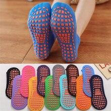 1 Pair Cotton Indoor Non-slip Floor Socks Baby Child Adult Candy Color Sock Trampoline Socks Women Men's Socks  New Arrival цена