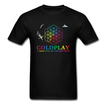Men's Tee Shirts Coldplay A Head Full of Dreams Tour Heavy Metal Rock Music Band Man O-Neck Short Sleeve T Shirt Hot Sale Male coldplay coldplay a rush of blood to the head lp