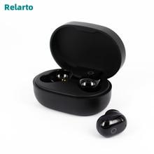 Relarto บลูทูธหูฟังบลูทูธ 5.0 หูฟังไร้สาย True Wireless 4 ชั่วโมงพร้อมและจอแสดงผล LED
