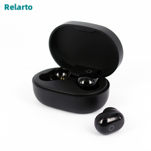 Relarto Bluetooth אוזניות Bluetooth 5.0 אלחוטי אמיתי אוזניות 4 שעות זמן מוסיקה עם טעינת מקרה LED תצוגת כוח
