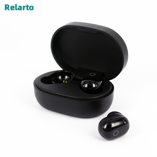 Relarto Bluetooth Oortelefoon Bluetooth 5.0 Echte draadloze oordopjes 4 uur muziek tijd met opladen case en LED power display
