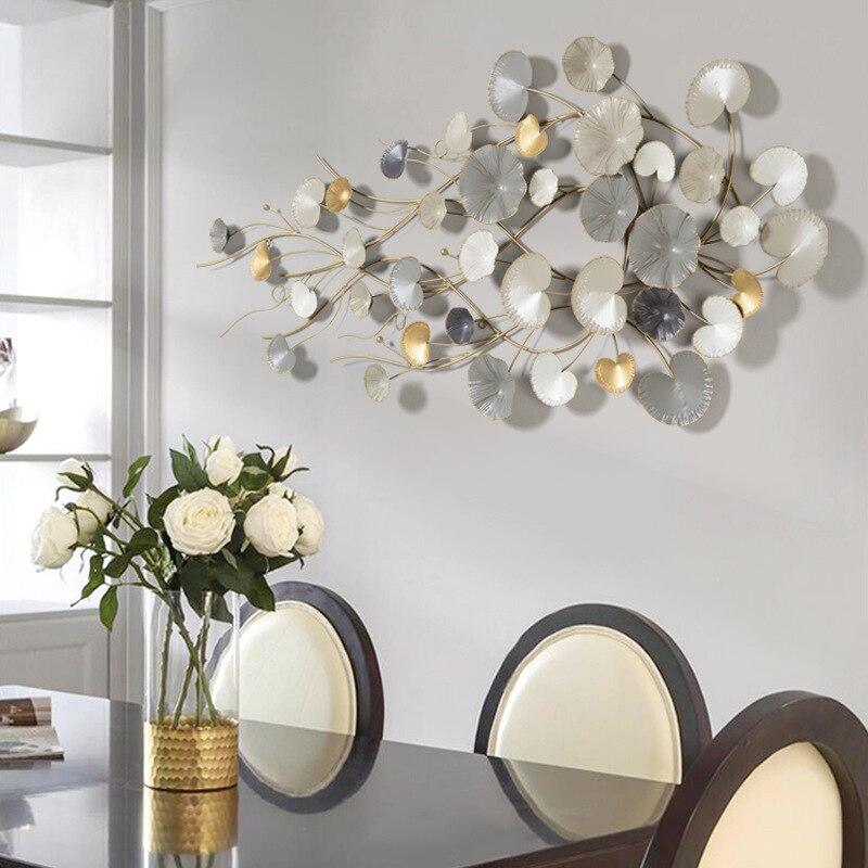 Настенные украшения, подвесные Креативные украшения для спальни, ресторана, магазина, настенные украшения на 3D цветочной стене в Северной Е... - 2