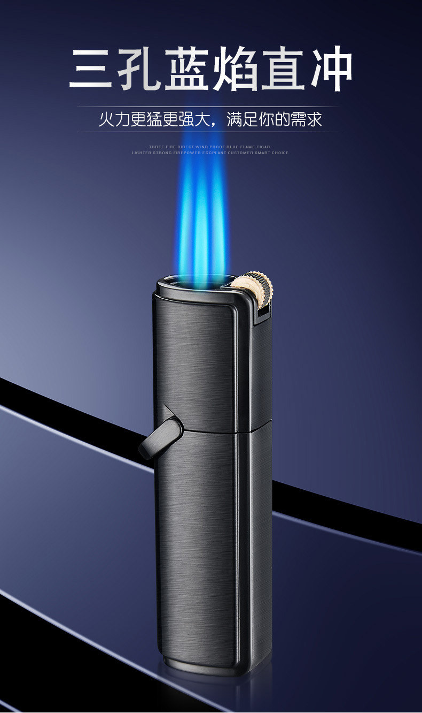 Jobon металлический газовый Флинт зажигалка jet бутан шлифовальный