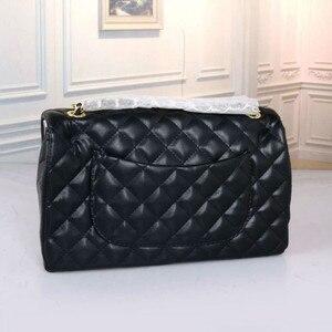 2020 Luxury Brand Famous Women's Bag Designer Classic Plaid Single Shoulder Messenger Bag Leather Women's Handbag